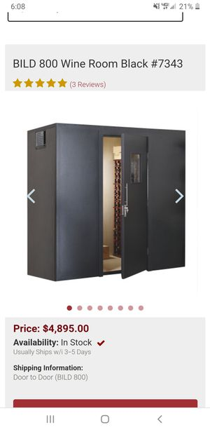 Walk in wine cellar wine room for Sale in Lacey, WA