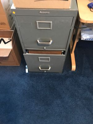 Steel filing cabinet and brown filing cabinet for Sale in Erdenheim, PA