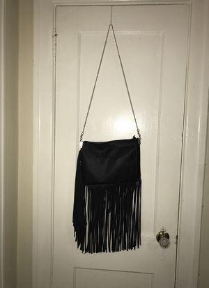 Black fringe zip purse for Sale in Philadelphia, PA