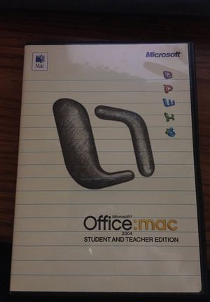 Microsoft office 2004 for Mac with 3 keys for Sale in Santa Maria, CA