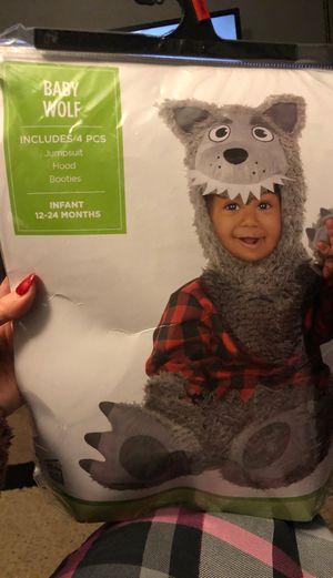 Baby Wolf and Red Riding hood cape Halloween costumes for Sale in Lorain, OH