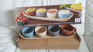 NEW STONEWARE SERVING SET $25 for Sale in Tampa, FL