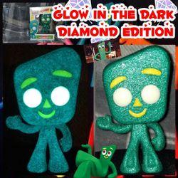 Funko Pop, Custom Glow in the Dark Diamond Edition Gumby for Sale in Adamstown,  MD