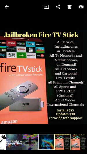Jailbroken Fire TV Stick Plug & Play for Sale in Fresno, CA