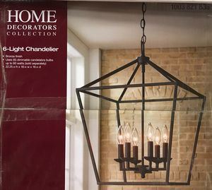 Home Decorators 6 Light Chandelier for Sale in Arlington Heights, IL