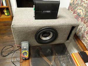 Powerbass amp and matching sub for Sale in Newark, OH