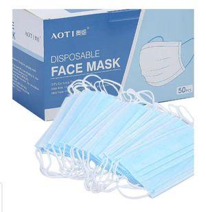 Face Masks 50 pieces box. Mascarillas caja de 50 piezas for Sale in Takoma Park, MD