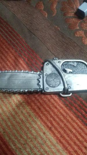 Chainsaw beltbuckle for Sale in Wichita, KS
