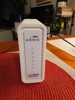 ARRIS Surfboard (8x4) Docsis 3.0 Cable Modem Plus SBG6700 AC , 1600 Dual Band Wi-Fi Router, for Sale in El Cajon, CA