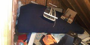 Futon wooden with futon mattress queen size for Sale in Durham, NC