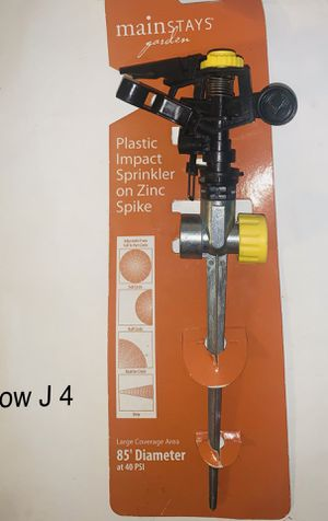 mainstays garden plastic impact sprinkler on zinc spike for Sale in Stafford, TX