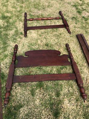 FREE - TWIN Solid Wood Bedframe Headboard & Footboard for Sale in Glenarden, MD