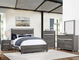 Bedroom set Queen bed +Nightstand +Dresser +Mirror. Mattress not included for Sale in CRYSTAL CITY, CA