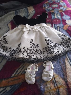 Infant dress and sandals /newborn diapers for Sale in Winter Haven, FL