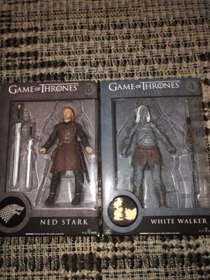 Game of Thrones Legacy Collection Ned Stark and White Walker Funcko action figure for Sale in Plant City, FL