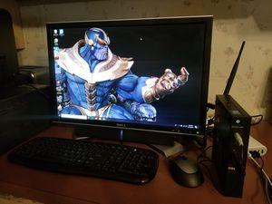 """Dell Optiplex 3020 Micro DesktopTiny PC (Intel Quad Core i5-4590T, 8GB Ram, 500GB HDD, WiFi, HDMI) Win10 Pro..22"""" Dell monitor w/soundbar..updated for Sale in Beulaville, NC"""
