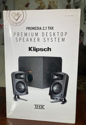 Klipsch promedia 2.1 THX premium desktop speaker system for Sale in Norwalk, CA