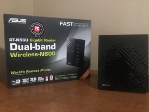 Asus dual band N600 Gigabit router for Sale in Shorewood, IL