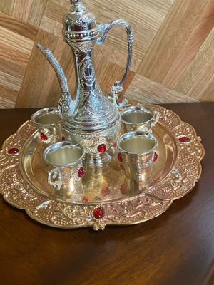 Decor tea cup set (5 tea cups) for Sale in Boston, MA