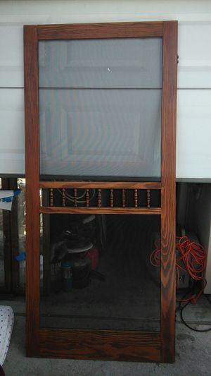 New wooden screen door , for Sale in Torrance, CA
