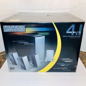 New Old Stock POWERFUL Altec Lansing 4.1 Channel Multimedia 400 Watt Select 641 Computer Retro Video Gaming Surround Sound Stereo System for Sale in Spring Hill, FL