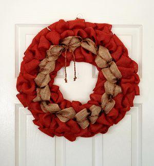 Burlap fall wreath for Sale in Murrieta, CA