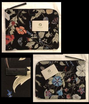 """Gucci Rare Flora Knight Travel IPads,Laptop Clutch""""Authentic"""" for Sale in Portland, OR"""
