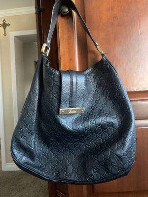 Gucci black leather shoulder bag for Sale in San Diego, CA