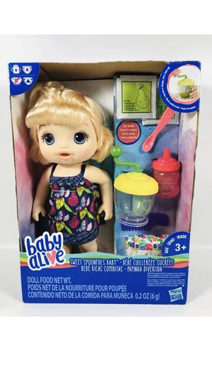 BABY ALIVE Sweet Spoonfuls Blonde Doll Girl for Sale in Fontana, CA