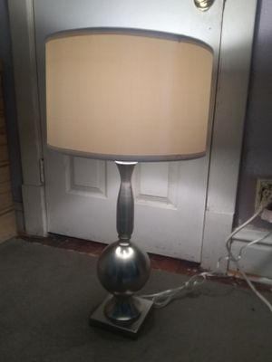 Tall Silvertone Lamp for Sale in St. Louis, MO