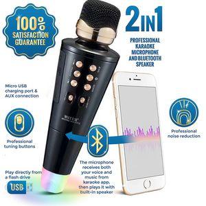NEW Portable Microphone Karaoke Bluetooth Wireless Speaker Disco light for Sale in South San Francisco, CA