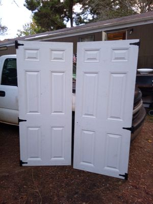 2 NEW wood doors with hinges for Sale in GA, US