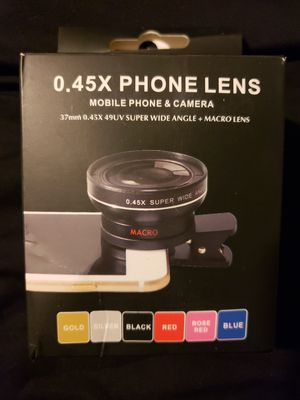 Phone Camera Lens 0.45X Wide Angle & 15X Macro For Iphone X 8/7/6/5 Ip for Sale in Pineville, LA