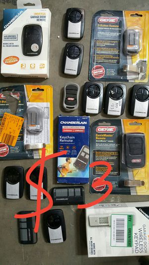 Chamberlain Universal Clicker Stainless Steel Garage Door Remote Control for Sale in El Monte, CA