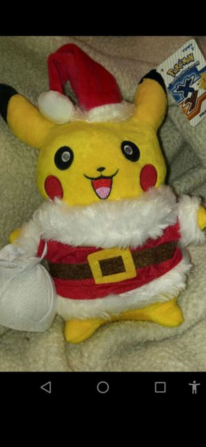 New Sealed- Pokemon Pikachu Santa Stuffed Animal for Sale in Manchester, NH