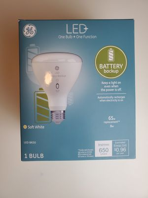GE Lighting LED+ Battery Backup BR30 Bulb, 65-Watt Replacement, Soft White for Sale in St. Louis, MO