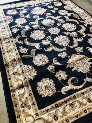 New rug size 5x7 nice black carpet traditional design rugs for Sale in Burke, VA