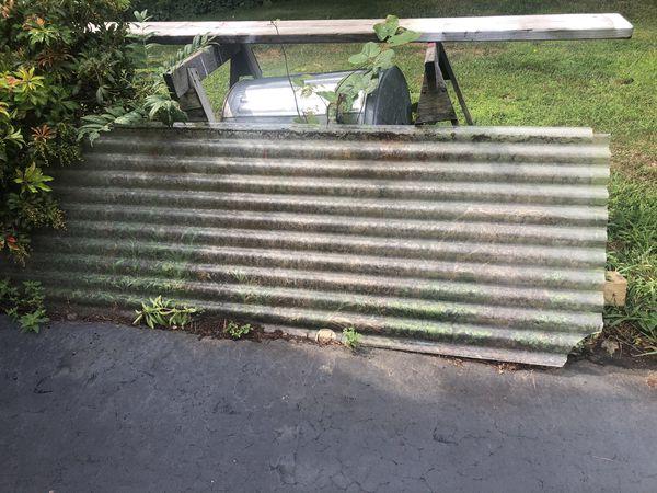 Free ..Corrugated wire glass.
