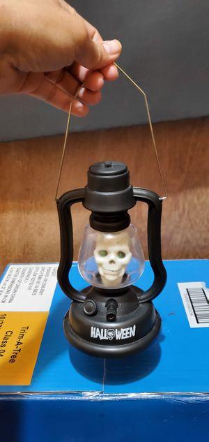 Halloween lantern skull 💀 lights Green eye sound for Sale in Oak Lawn, IL