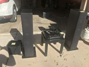 High end A/V receiver, tower speakers and subwoofer - $1000 off retail! for Sale in Scottsdale, AZ