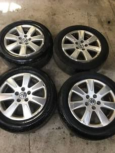 5x112 vw wheels and tires for Sale in Bethesda, MD