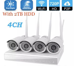 4CH Wireless 1080P NVR Indoor / Outdoor IP WIFI Camera CCTV Security System / baby monitor with 2TB HDD for Sale in Peoria, AZ