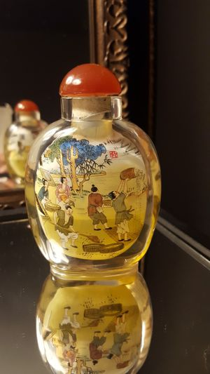 Antique Chinese Hand Painted snuff perfume oil bottle for Sale in New York, NY
