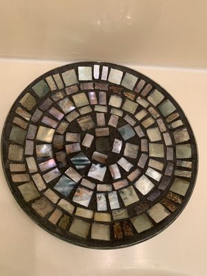 Decorative Plate with Ocean Blue Stones for Sale in Downey, CA