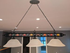 "Pool table black hanging light fixture- 57"" for Sale in Arlington, VA"