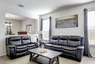 2pc Leather Living Room With Dual Power Reclining Sofa for Sale in Austin,  TX