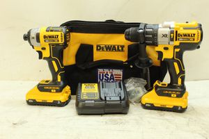 DEWALT 20-Volt MAX XR Lithium-Ion Cordless Brushless Drill/Impact Combo Kit (2-Tool) with (2) Batteries 3Ah, Charger and Bag for Sale in Bakersfield, CA