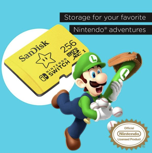 256Gb Micro Sd for Nintendo Switch *SEALED*