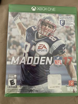 "MADDEN NFL ""17"" Video Game (Xbox One) for Sale in Silver Spring, MD"