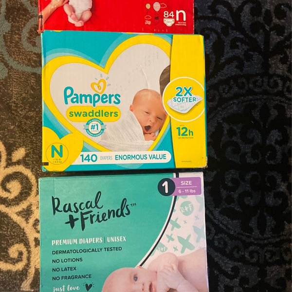 Huggies Diapers, Pamper Diapers, Rascal & Friends Diapers